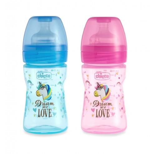 Biberon Chicco Fantastic Love Flujo regulable 0 m+ 150 ml