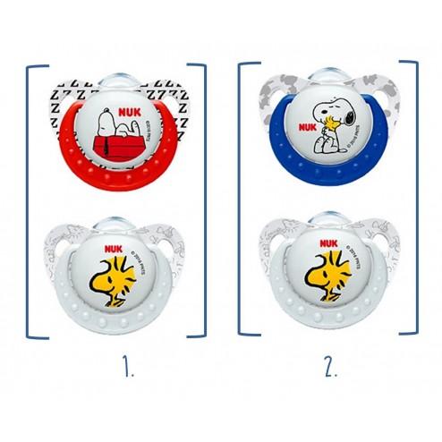 Chupete Nuk Silicona Snoopy T1 (0-6 meses) 2 unidades
