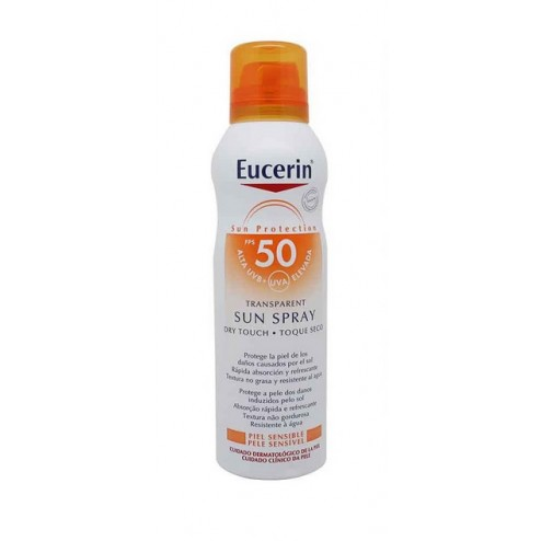 Eucerin Sun Protection SPF50 Spray Transparente Dry 200ml