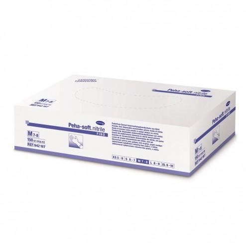 Guantes deshechables nitrilo azul Peha-Soft T-Mediana 10 unidades