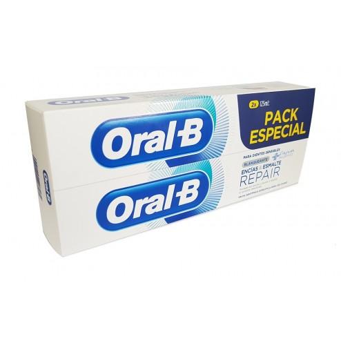 Pack OralB pasta Encias & Esmalte Blanqueante 2 x 125 ml