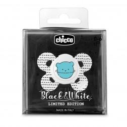 Chupete Chicco Comfort Silicona 0-6 meses Black & White Limited Edition 1 unidad