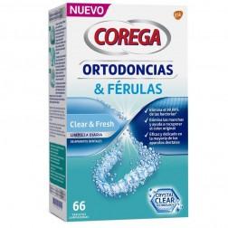 Corega Ortodoncias y Férulas 66 Tabletas Limpiadoras