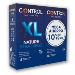 Pack Control Nature XL preservativos 12 + 12 unidades