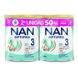 Duplo Nan Optipro 3,  2 unidades x 800 gramos