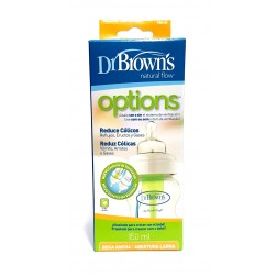 Dr Brown Biberón Boca Ancha Tetina Silicona, 150ml