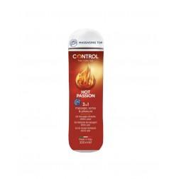 Control Hot Passion Massage Gel 3 en 1 200 ml