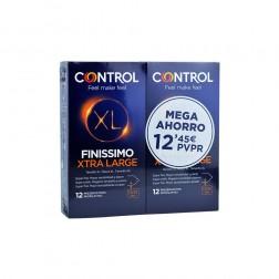 Pack Control Finissimo XL preservativos 12 + 12 unidades
