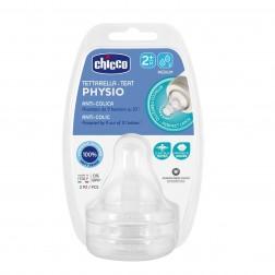Tetina Chicco Physio Silicona 2 m+ Flujo medio 2 unidades