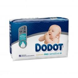Pañal Infantil Dodot Pro Sensitive+ Talla 2 4- 8 kg 36 unidades
