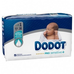 Pañal Infantil Dodot Pro Sensitive + Talla 1 2-5 kg 38 unidades
