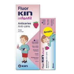 Pack Fluor Kin Infantil Enjuague 500 ml + regalo Pasta Fluor Kin Infantil 50 ml