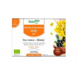 Herbalgem Pastillas Blandas para la Voz Ronca - Afonía 24 pastillas