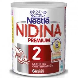 Nestle Nidina Premium 2 en polvo 800 gr (6,8 o 12 meses)