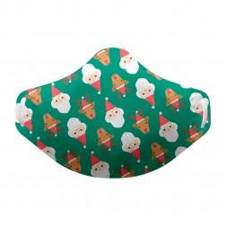 Mascarilla Higiénica Reutilizable Navidad Verde Talla 3-7 años 1 unidad
