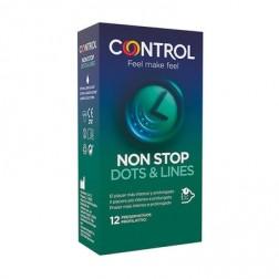 Control Adapta Non Stop Dots & Lines 12 preservativos