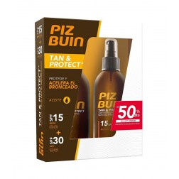 Pack Piz Buin Tan & Protect Aceite SPF 15 150 ml + Aceite SPF 30 150 ml