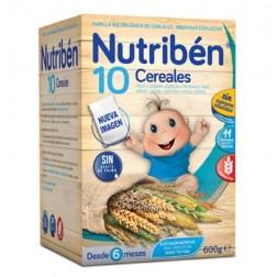 Nutriben Papilla 10 cereales 600 gramos