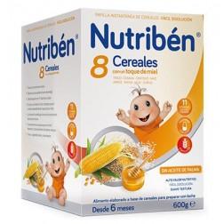 Nutriben Papilla 8 Cereales con un toque de Miel 600 gramos