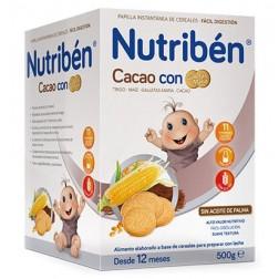 Nutriben papillas con gluten, cacao con galletas Maria 600 gr