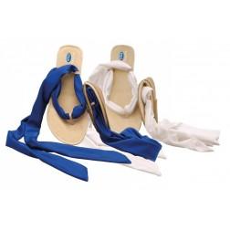 Pocket Ballerina Sandalia Azul/Blanca Nº 41/42