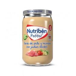 Nutriben Potito Guiso de Pollo Ternera y Judias Verdes 235 g