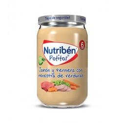 Nutriben Potito Jamón y Ternera con Menestra de Verdura 235 g