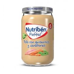 Nutriben Potito Pollo con Guisantes y Zanahorias 235 g