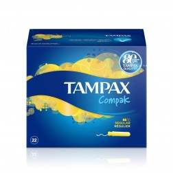 Tampax Compak Tampón Regular 22 unidades 100% Algodón
