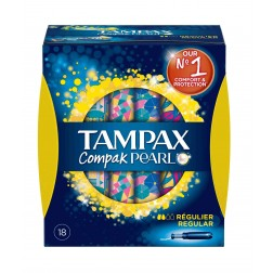 Tampon Tampax Compack Pearl Regular 18 unid