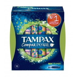 Tampon Tampax Compack Pearl Super 18 unid